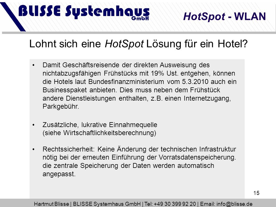 Lohnt sich eine HotSpot Lösung für ein Hotel