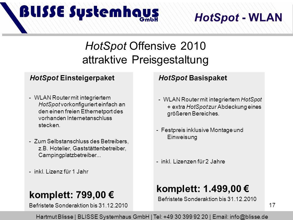 HotSpot Offensive 2010 attraktive Preisgestaltung