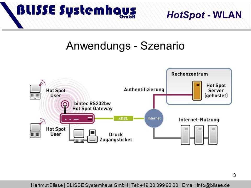 Anwendungs - Szenario HotSpot - WLAN