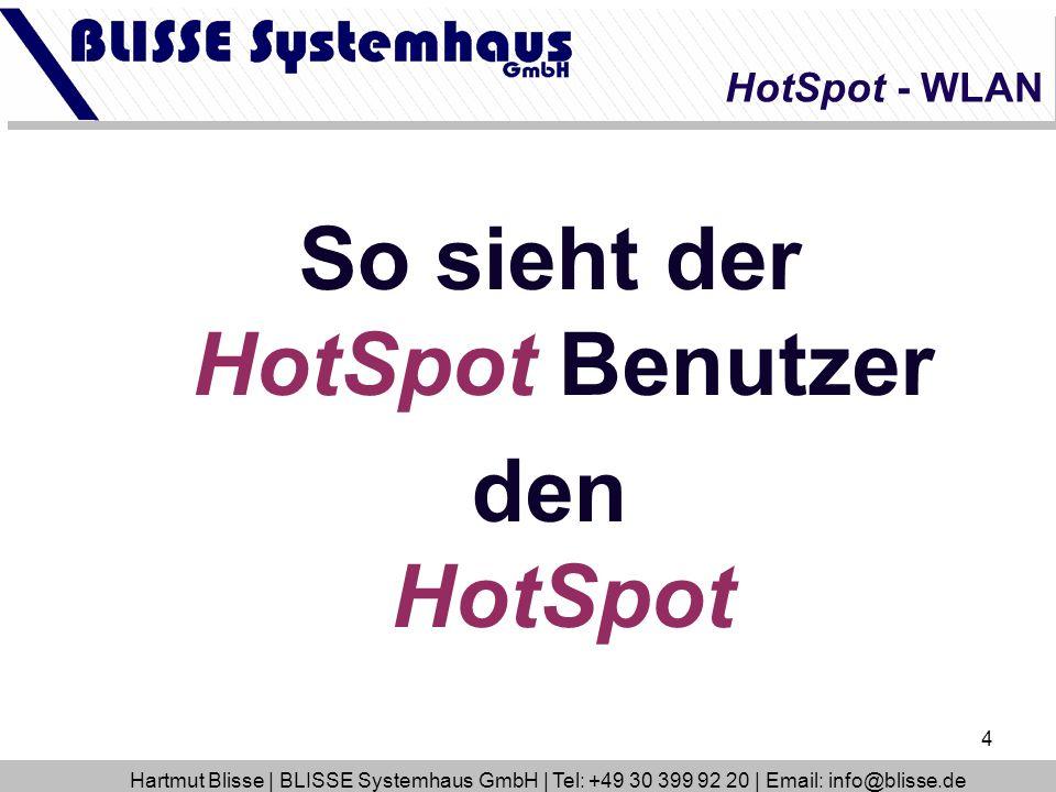 So sieht der HotSpot Benutzer
