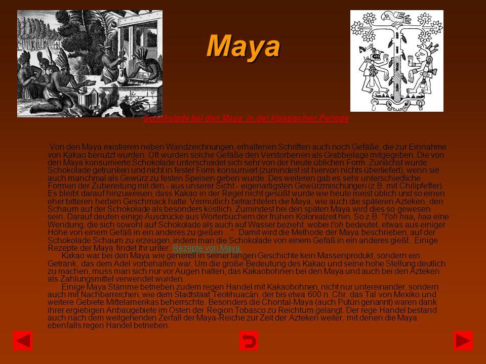 Schokolade bei den Maya in der klassischen Periode