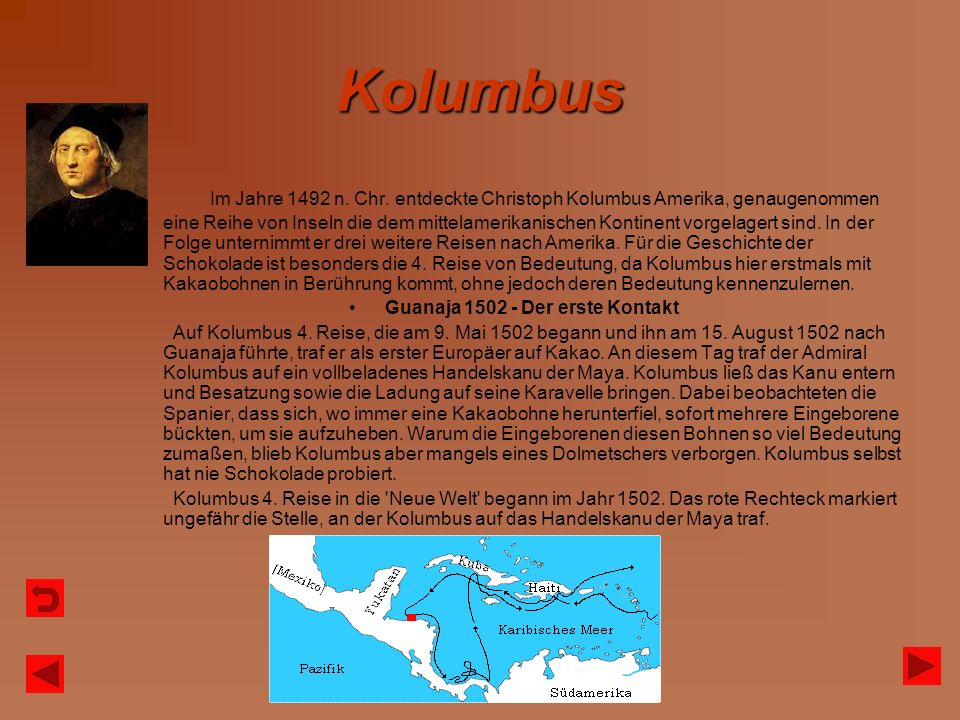 Guanaja 1502 - Der erste Kontakt