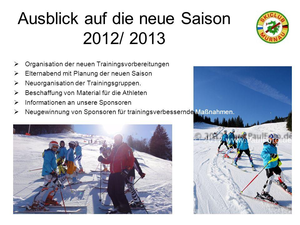 Ausblick auf die neue Saison 2012/ 2013