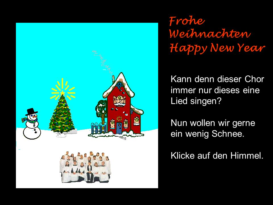 Frohe Weihnachten Happy New Year