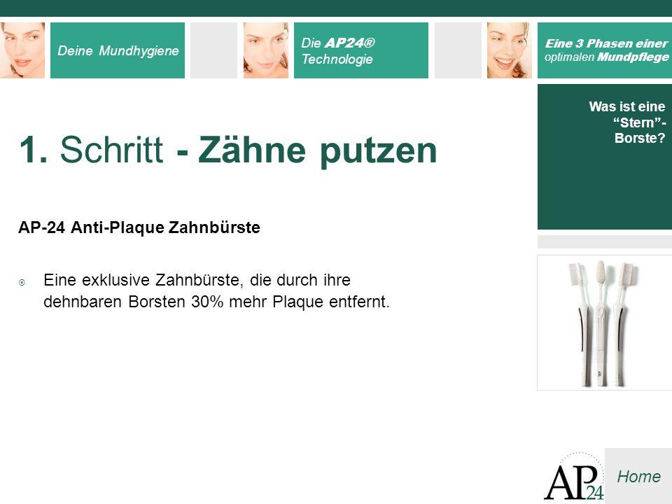 1. Schritt - Zähne putzen AP-24 Anti-Plaque Zahnbürste