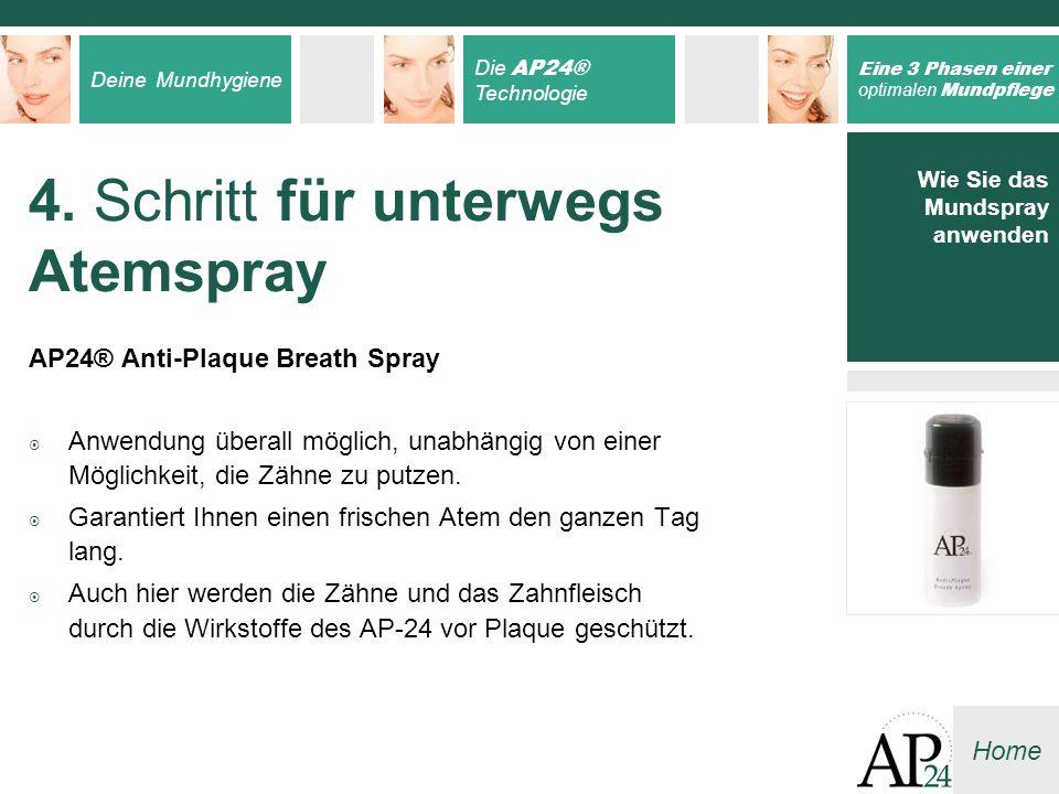 4. Schritt für unterwegs Atemspray