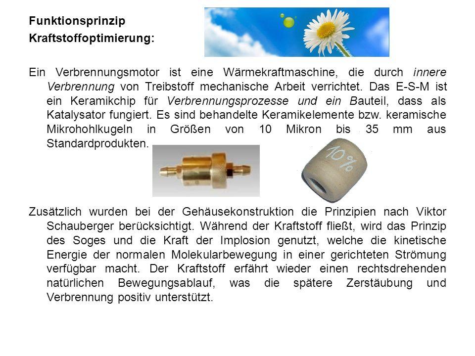 FunktionsprinzipKraftstoffoptimierung: