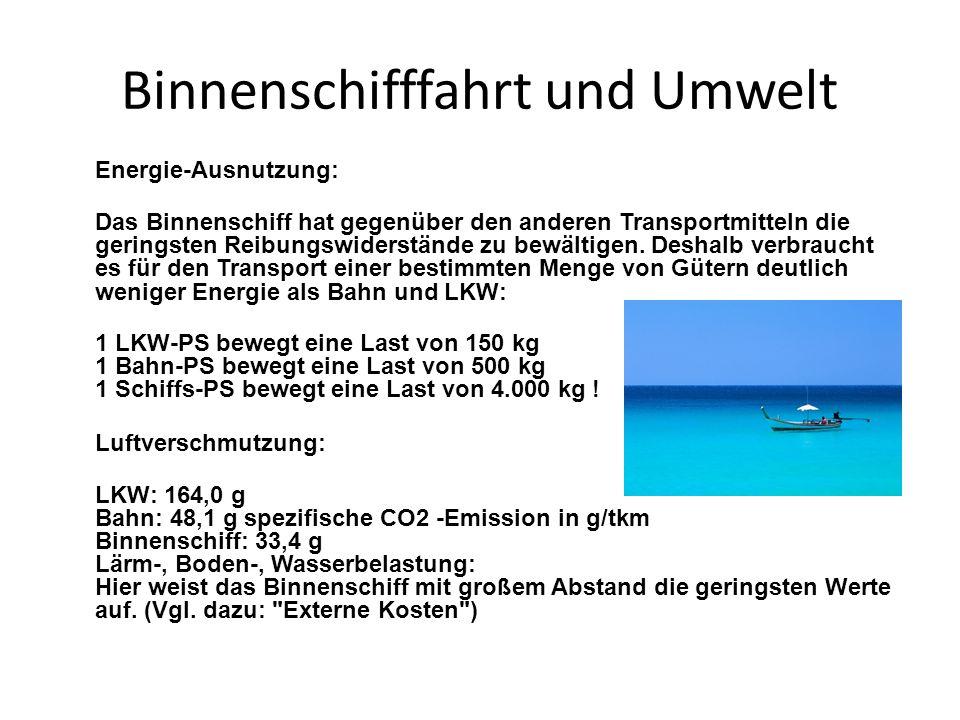 Binnenschifffahrt und Umwelt