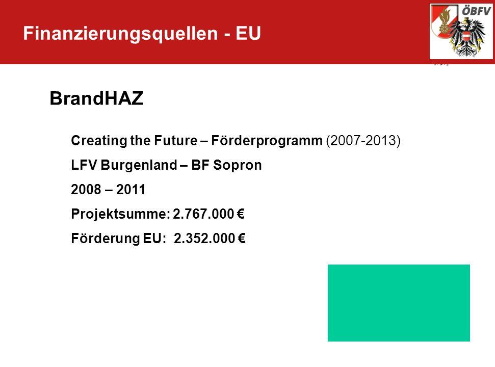 Finanzierungsquellen - EU