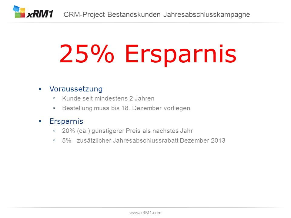 CRM-Project Bestandskunden Jahresabschlusskampagne