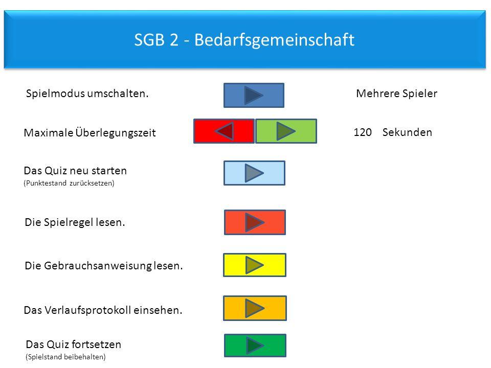 SGB 2 - Bedarfsgemeinschaft