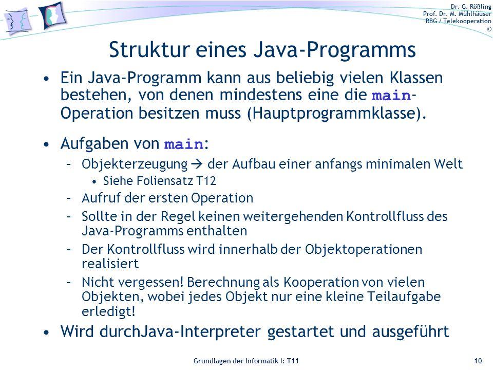 Struktur eines Java-Programms