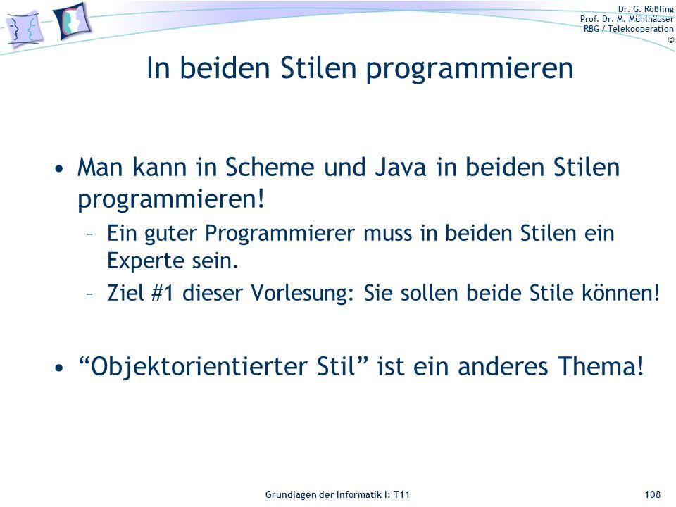 In beiden Stilen programmieren