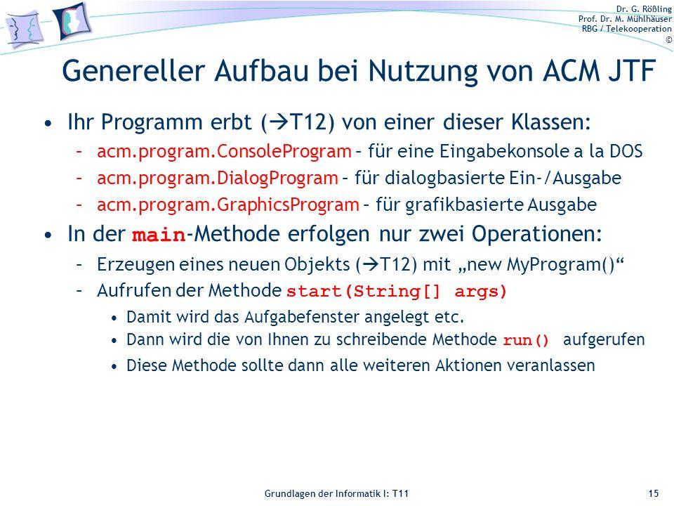 Genereller Aufbau bei Nutzung von ACM JTF