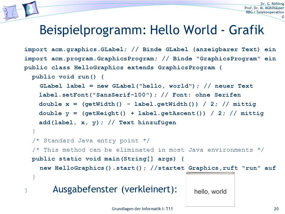 Beispielprogramm: Hello World - Grafik