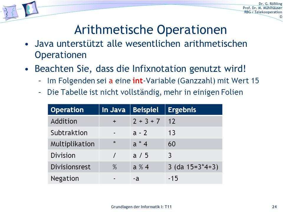 Arithmetische Operationen