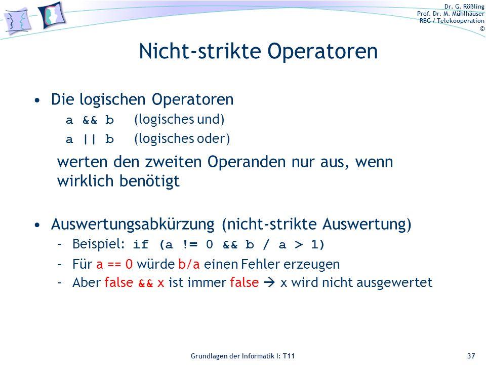 Nicht-strikte Operatoren