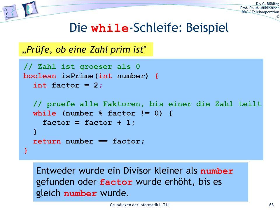 Die while-Schleife: Beispiel