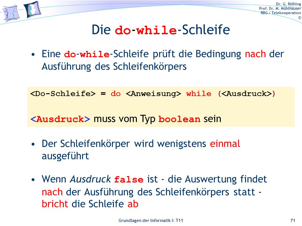 Die do-while-Schleife