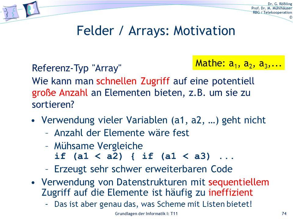 Felder / Arrays: Motivation