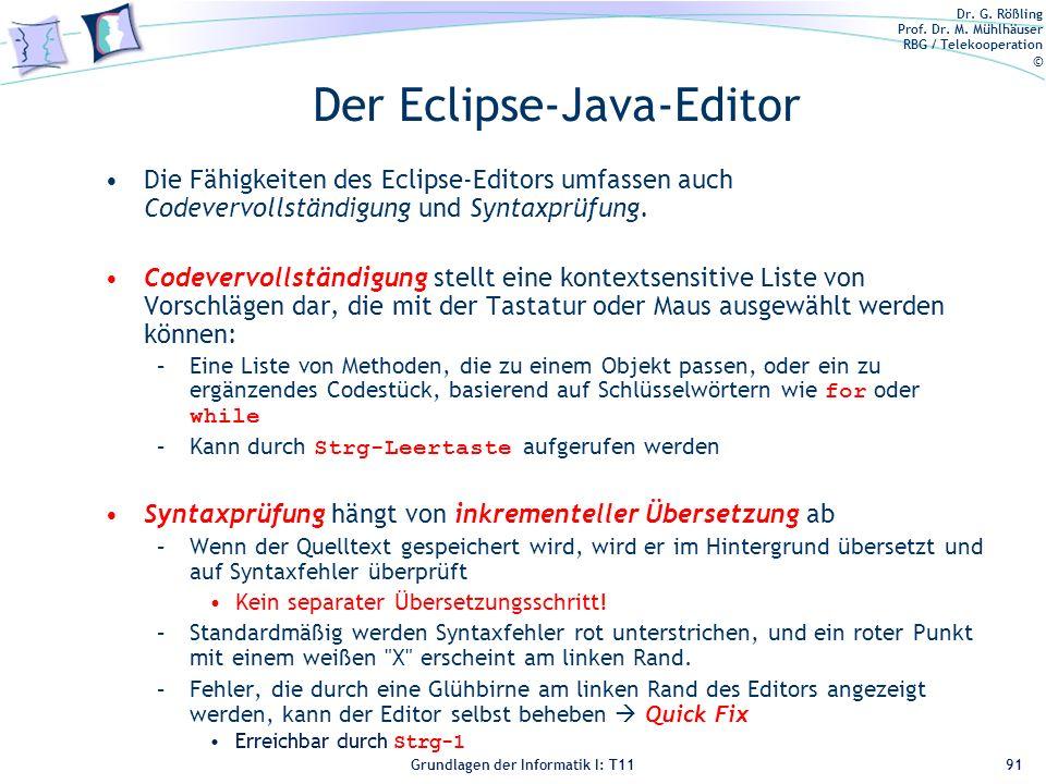 Der Eclipse-Java-Editor