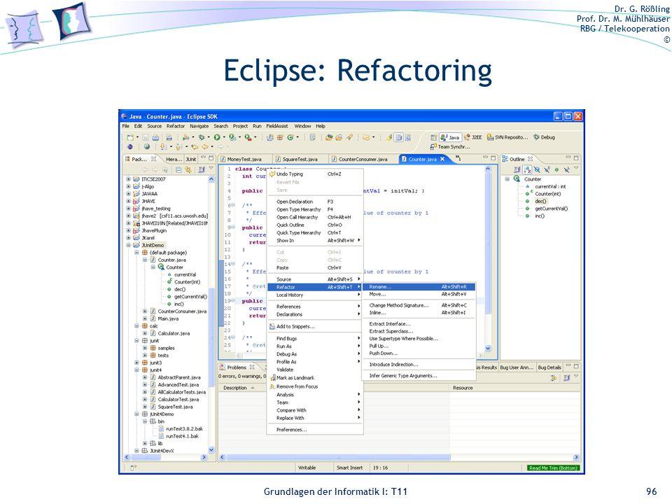 Eclipse: Refactoring