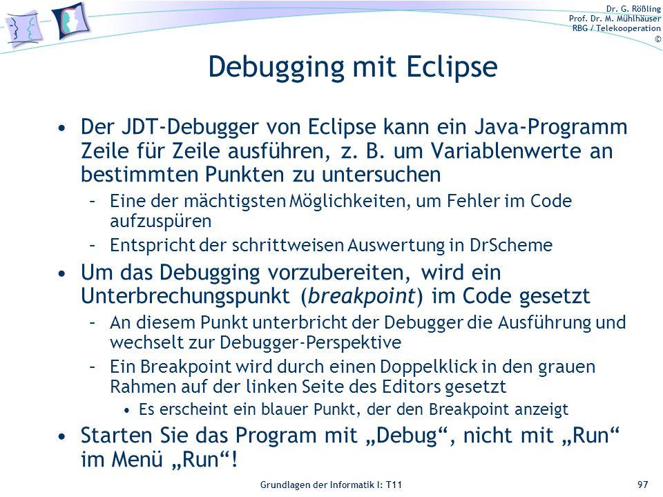 Debugging mit Eclipse