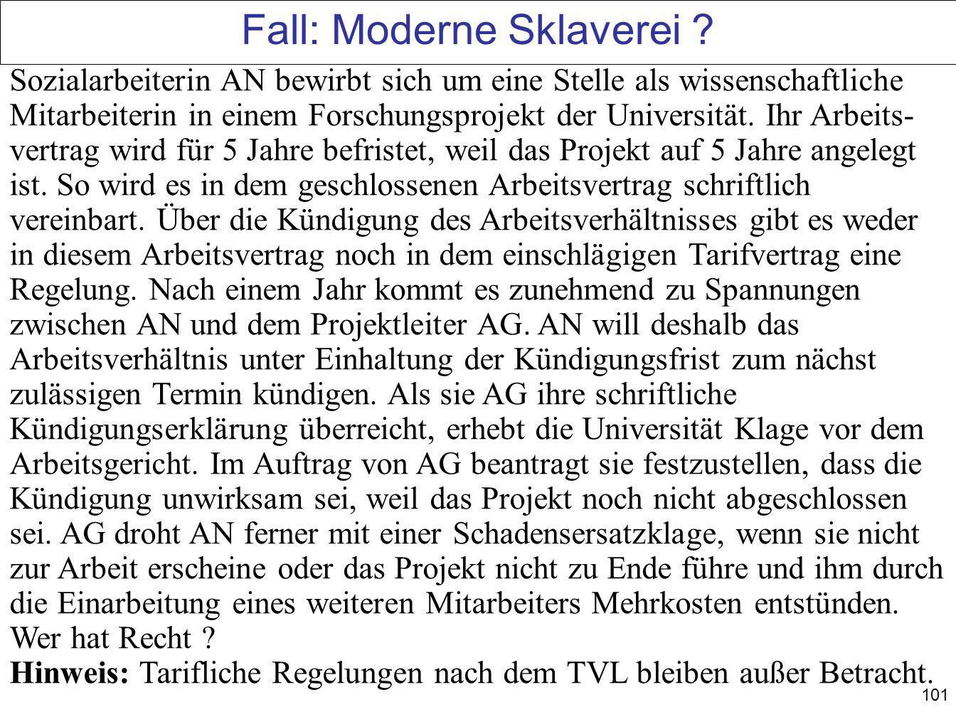 Fall: Moderne Sklaverei