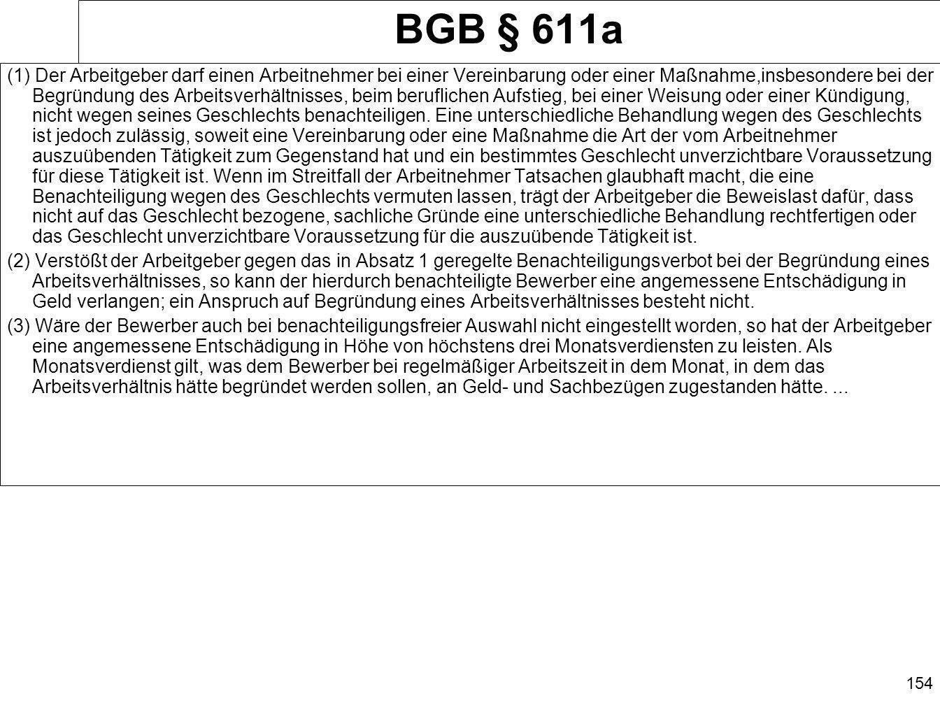 BGB § 611a