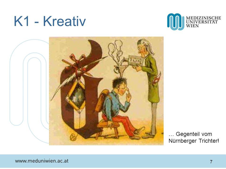 K1 - Kreativ … Gegenteil vom Nürnberger Trichter!