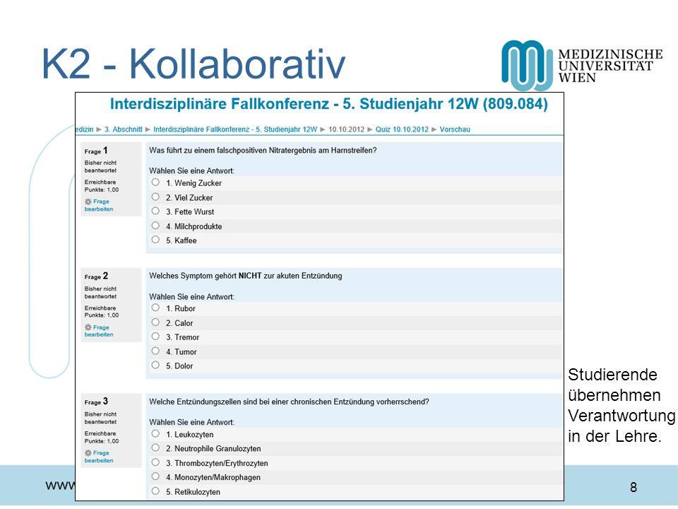 K2 - Kollaborativ Studierende übernehmen Verantwortung in der Lehre.