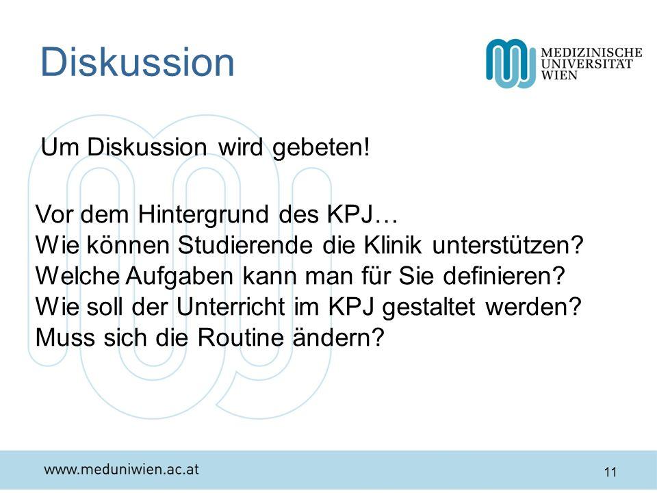 Diskussion Um Diskussion wird gebeten! Vor dem Hintergrund des KPJ…