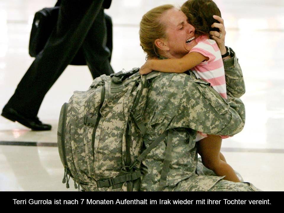 Terri Gurrola ist nach 7 Monaten Aufenthalt im Irak wieder mit ihrer Tochter vereint.