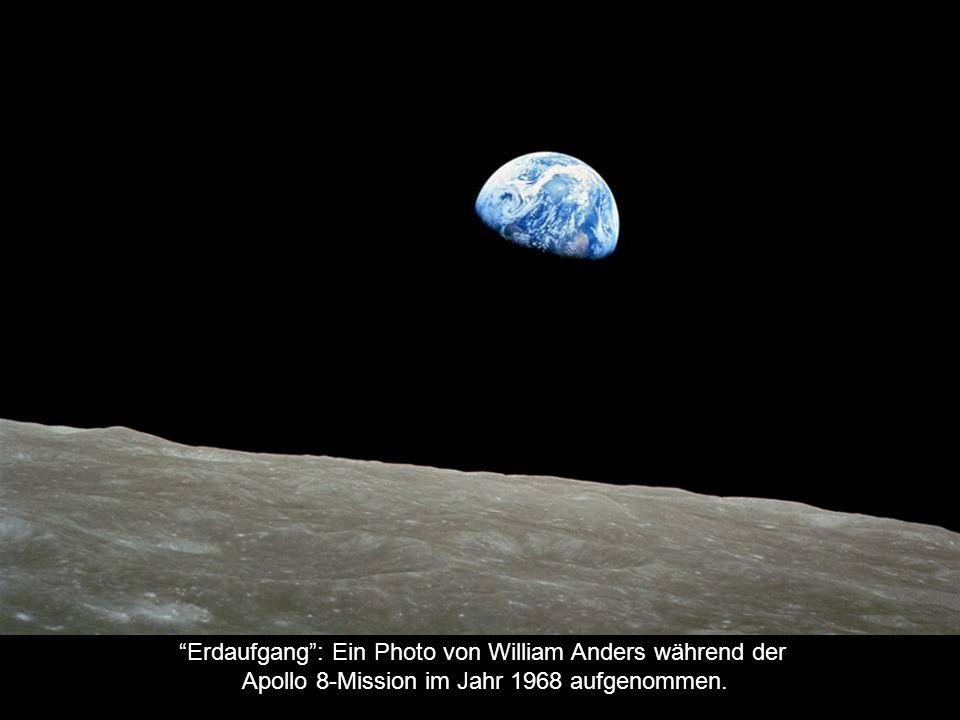 Erdaufgang : Ein Photo von William Anders während der