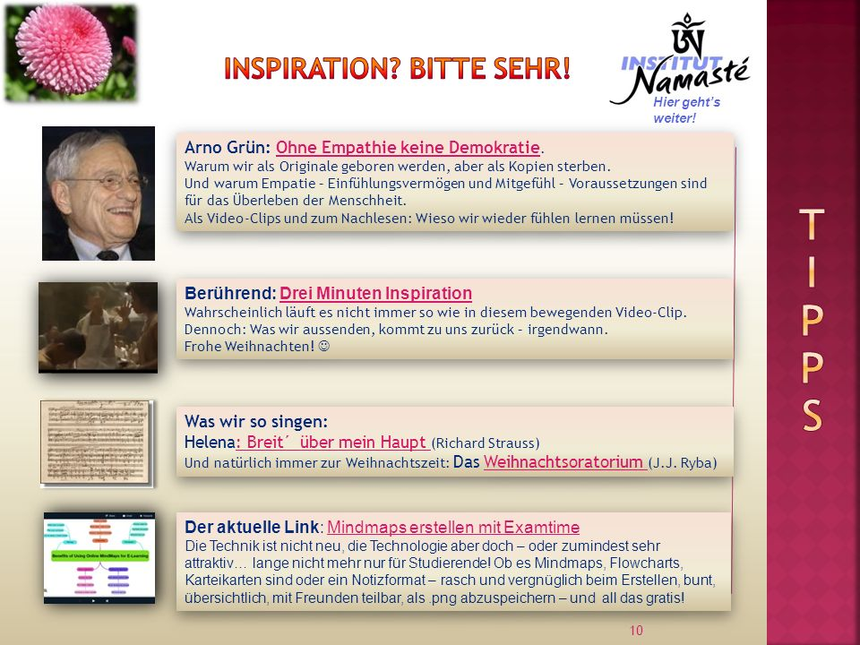 Inspiration Bitte sehr!