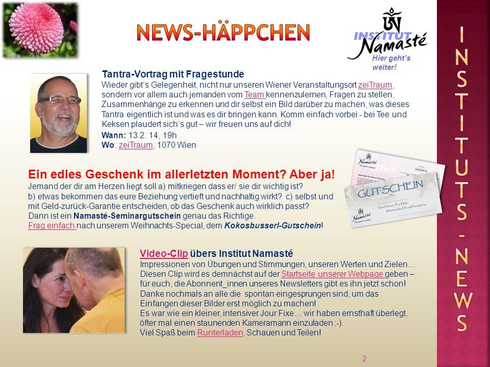 Instituts -news News-Häppchen