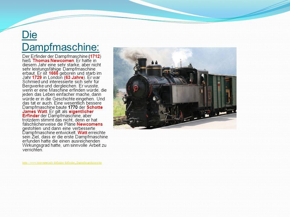 Die Dampfmaschine: