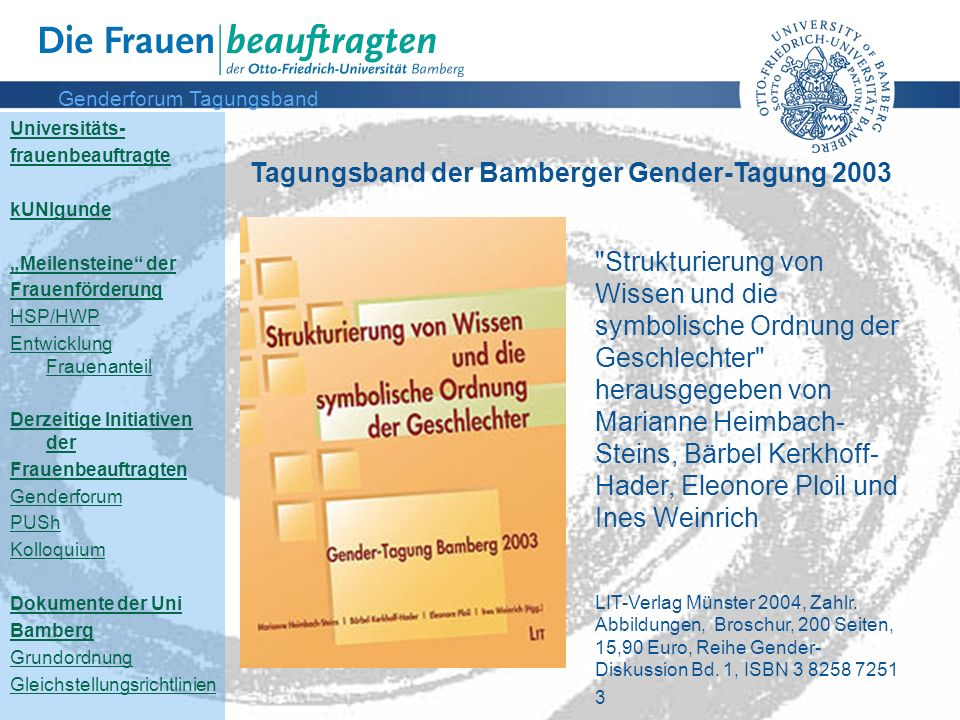 Genderforum Tagungsband