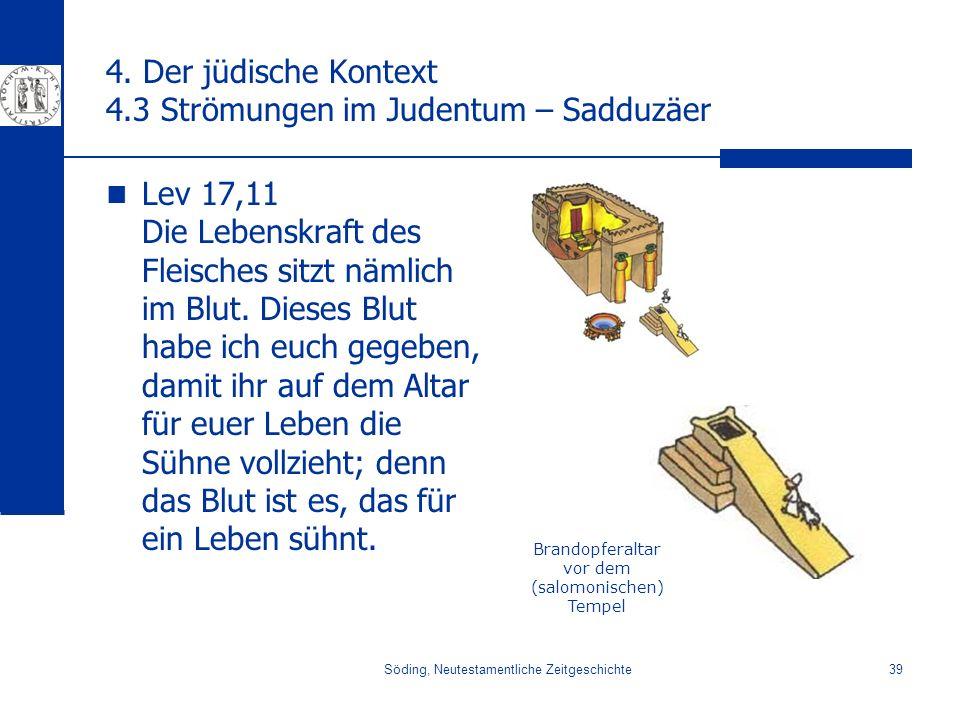 4. Der jüdische Kontext 4.3 Strömungen im Judentum – Sadduzäer