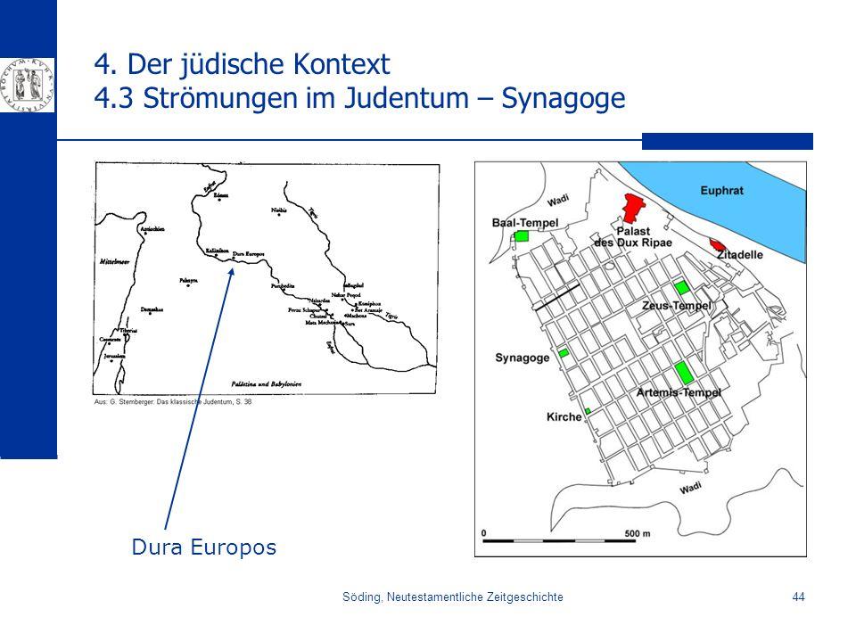 4. Der jüdische Kontext 4.3 Strömungen im Judentum – Synagoge