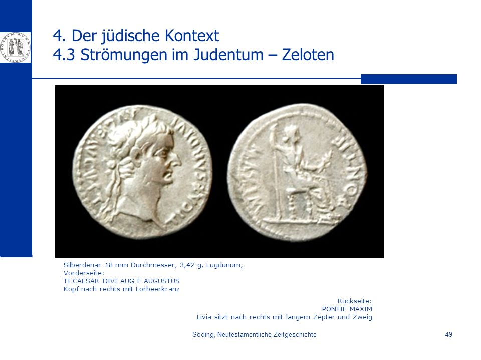 4. Der jüdische Kontext 4.3 Strömungen im Judentum – Zeloten