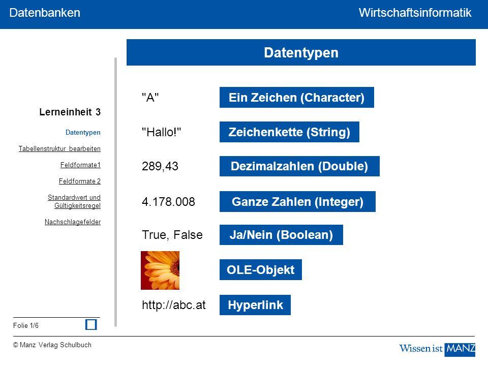 ü Datentypen A Ein Zeichen (Character) Hallo!