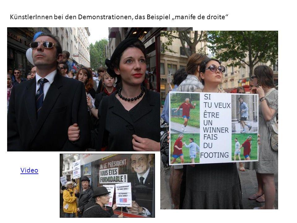 """KünstlerInnen bei den Demonstrationen, das Beispiel """"manife de droite"""