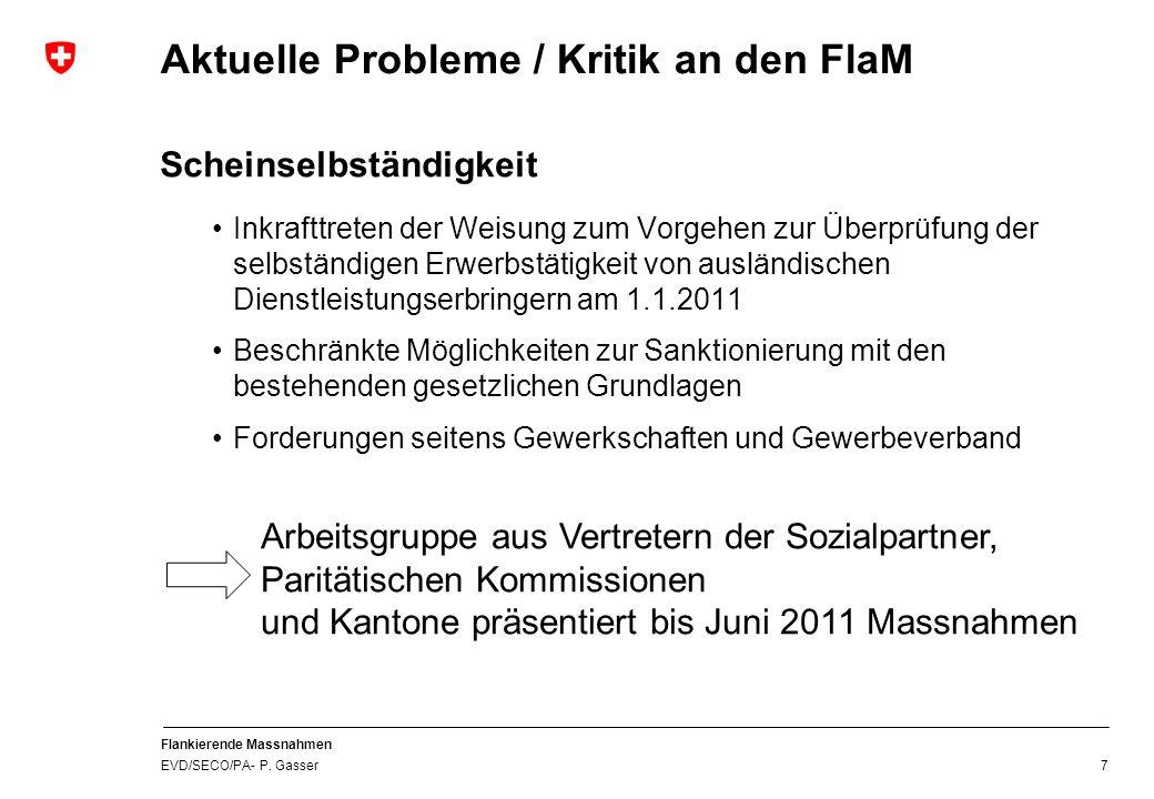 Aktuelle Probleme / Kritik an den FlaM