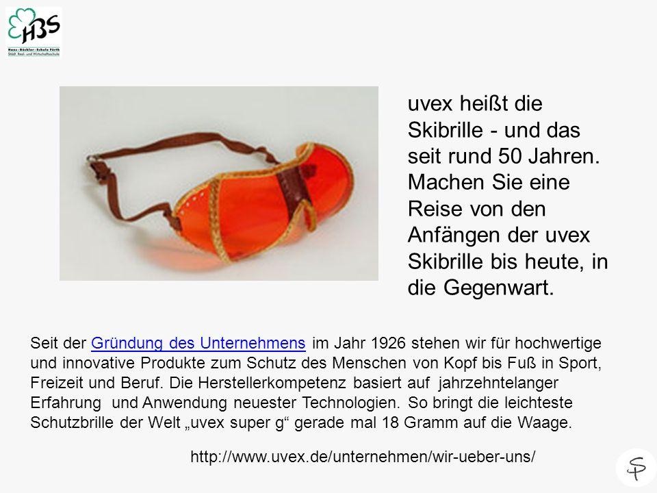uvex heißt die Skibrille - und das seit rund 50 Jahren