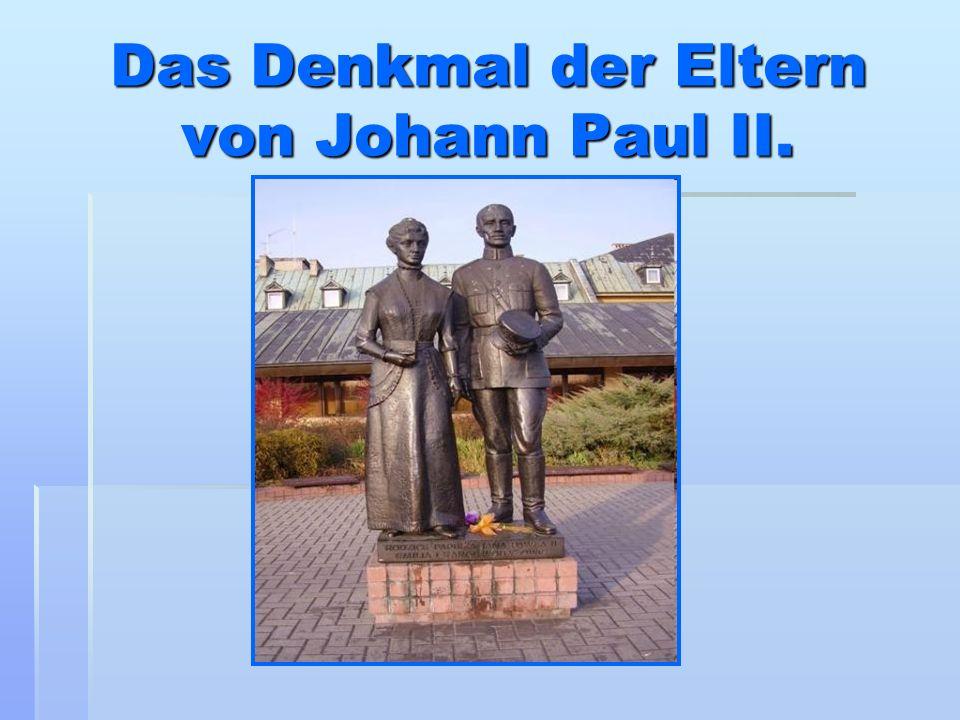 Das Denkmal der Eltern von Johann Paul II.