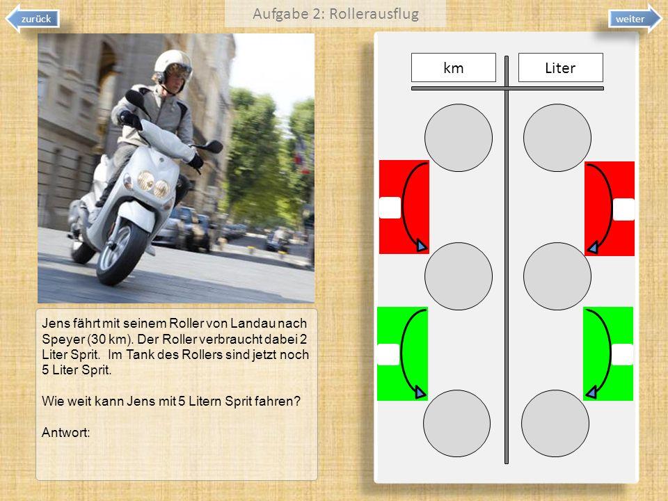 Aufgabe 2: Rollerausflug