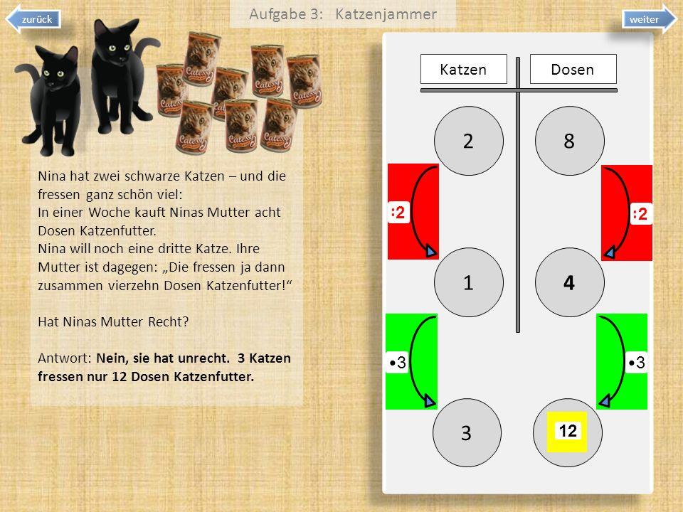 Aufgabe 3: Katzenjammer