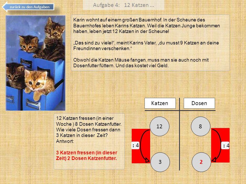 Aufgabe 4: 12 Katzen ... 8 12 Katzen Dosen 3 2 : 4