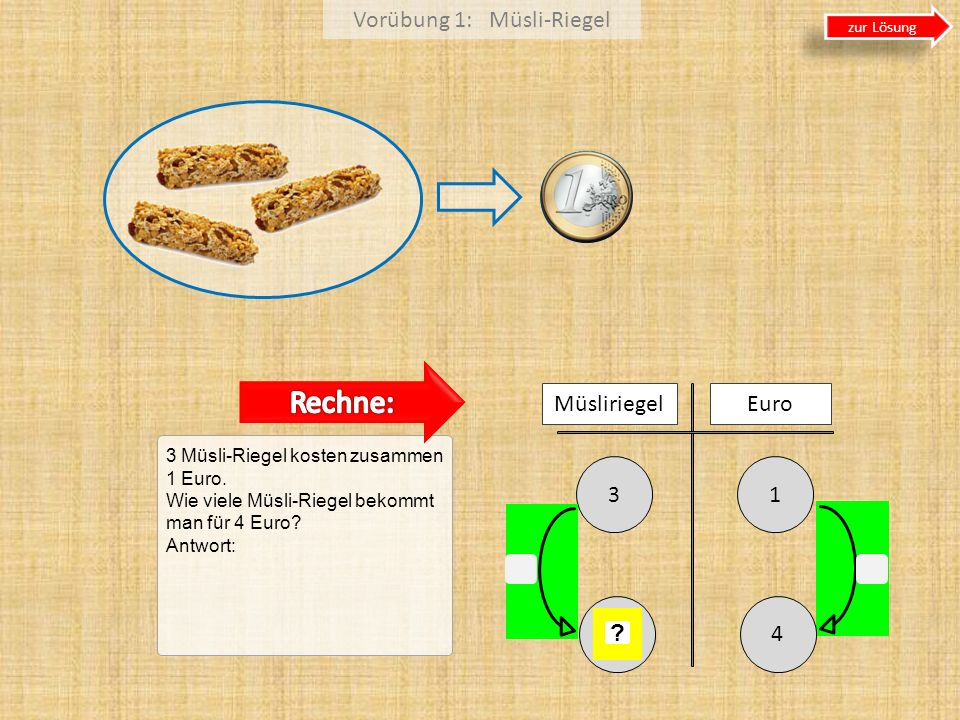Vorübung 1: Müsli-Riegel